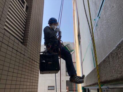無足場工法 ロープアクセス シール工事